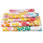 Full Floral Gem Sheet Set(Includes 1 fitted sheet, 1 flat sheet and 2 cases)