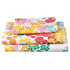 Twin Floral Gem Sheet Set(Includes 1 fitted sheet, 1 flat sheet and 1 case)