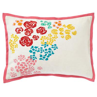 Floral Gem Throw Pillow