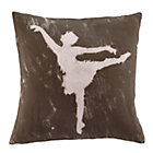 Set Grey Ballet Dancer Throw Pillow