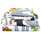 Full Welcome Jungle Sheet Set(Includes 1 fitted sheet, 1 flat sheet and 2 cases)