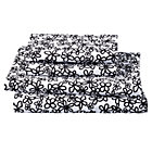 Full Black White Loves Me Sheet Set(includes 1 fitted sheet, 1 flat sheet and 2 cases)