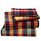 Queen Urban Lumberjack Plaid Sheet Set(includes 1 fitted sheet, 1 flat sheet and 2 cases)