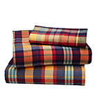 Twin Urban Lumberjack Plaid Sheet Set(includes 1 fitted sheet, 1 flat sheet and 1 case)