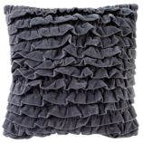 Grey Velvet Throw Pillow Cover
