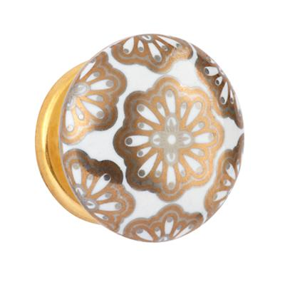 Handpicked Knobs (Gold Floral)