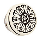 Grey Floral Hand Picked Knob