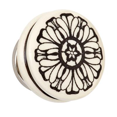 Hand Picked Knobs (Grey Flower)