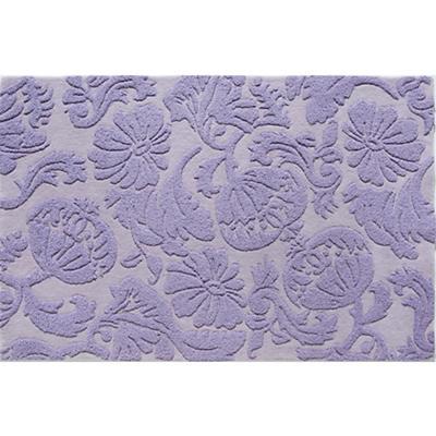 4 x 6' Raised Floral Rug (Lavender)