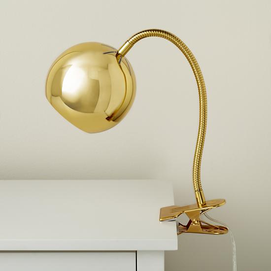 Kids Lighting: Gold Vintage Clip On Table Lamp The Land of Nod