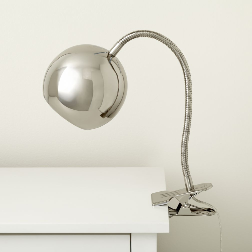 Silver Modern Clip Lamp