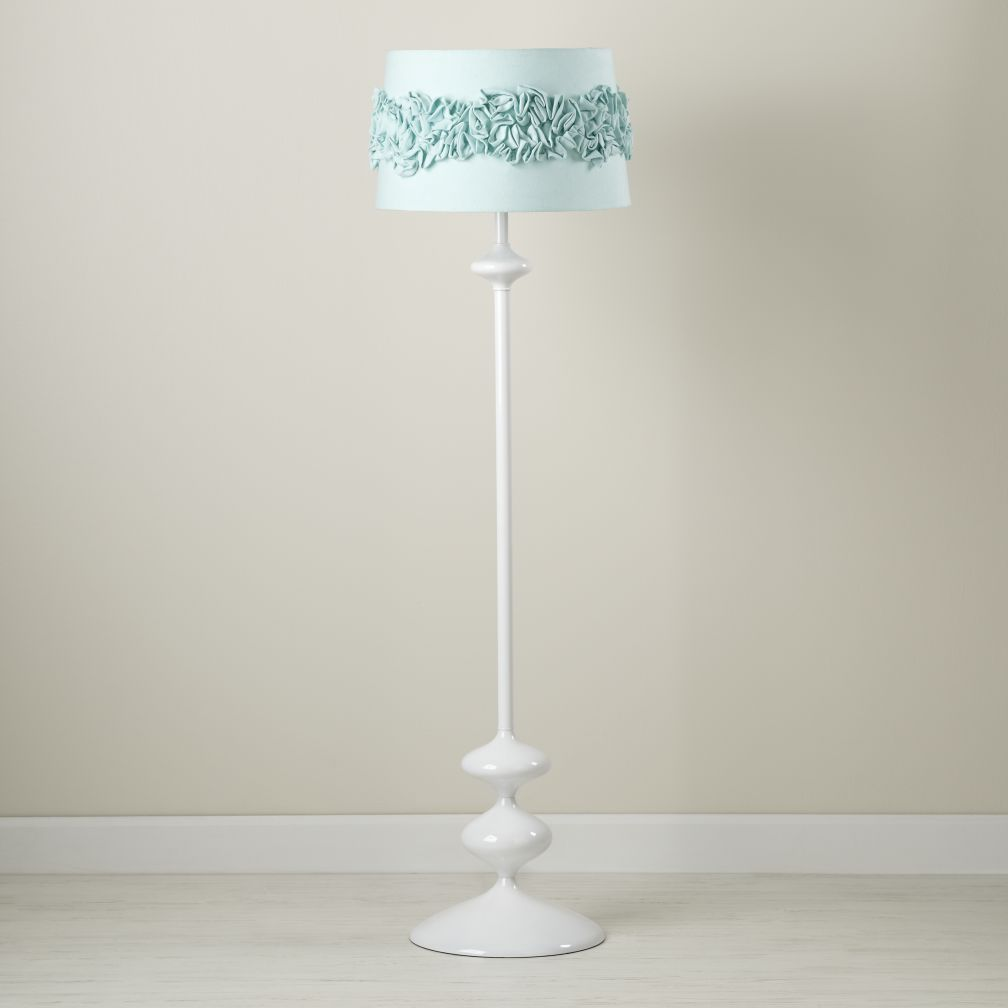 Ruffled and Ready Floor Shade (Aqua)