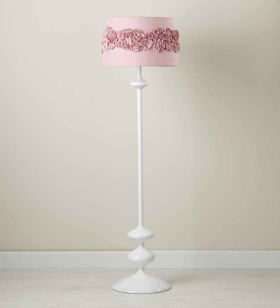Ruffled and Ready Floor Shade (Pink)