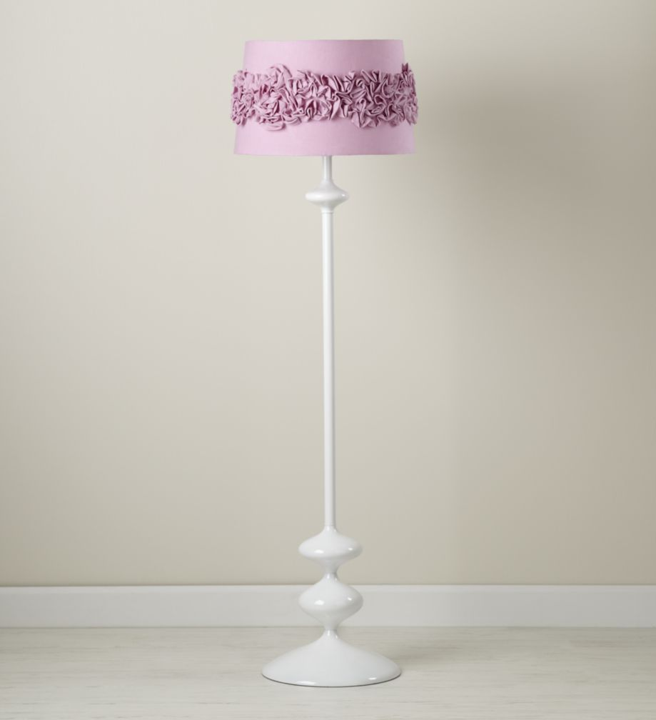 Ruffled and Ready Floor Shade (Purple)