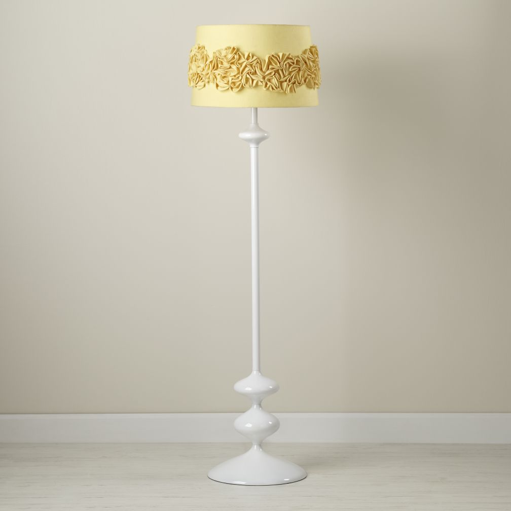 Ruffled and Ready Floor Shade (Yellow)