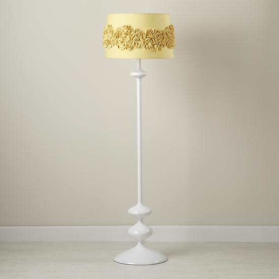 Kids' Floor Lamps: Yellow Ruffled Shade | The Land of Nod