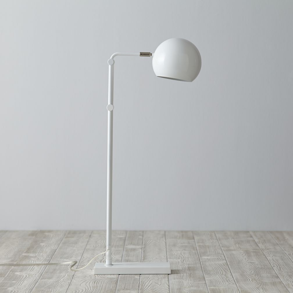 Hemisphere Floor Lamp (White)