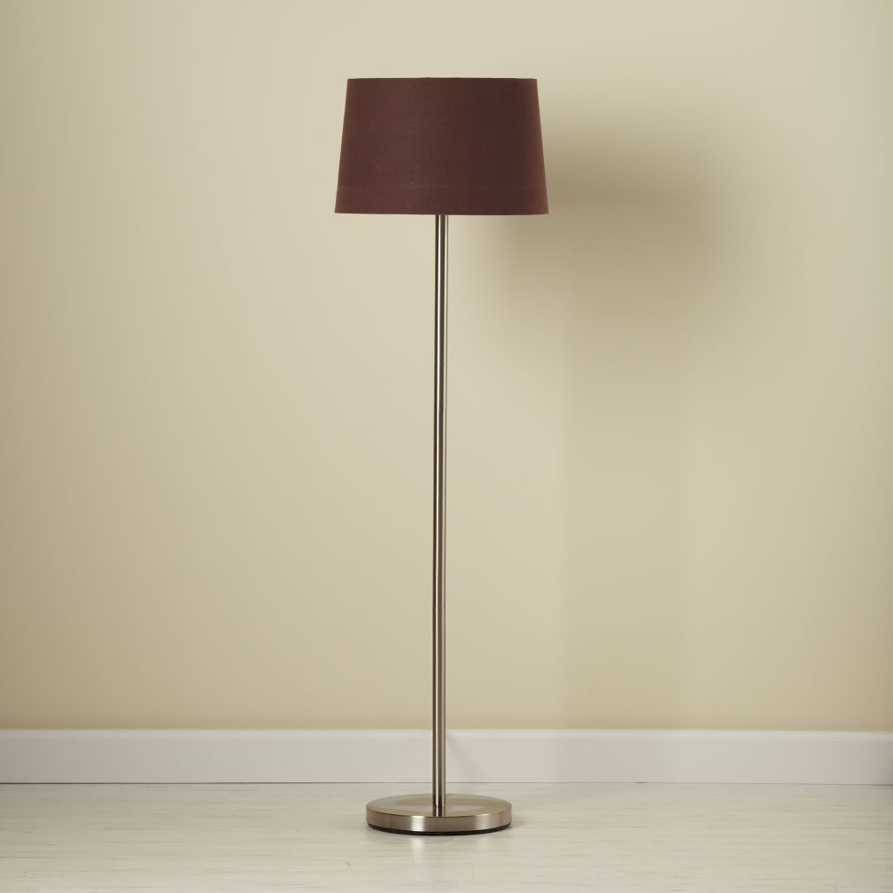 Light Years Chocolate Floor Shade (with Nickel Base)