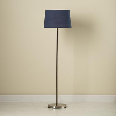 Light Years Dk. Blue Floor Shade and Nickel Base
