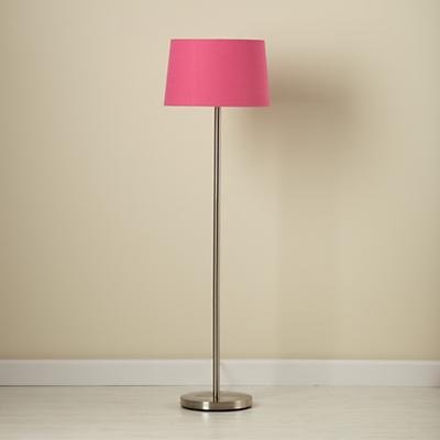 Light Years Hot Pink Floor Shade and Nickel Base