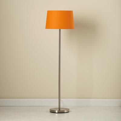 Light Years Orange Floor Shade and Nickel Base