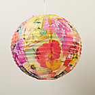 Fresh Cut Flowers Paper Lantern