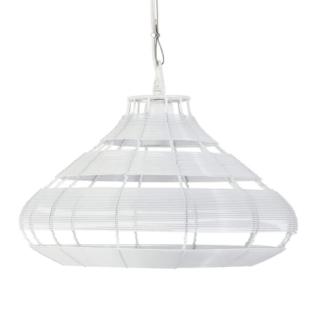 White Wire Aviary Pendant Lamp