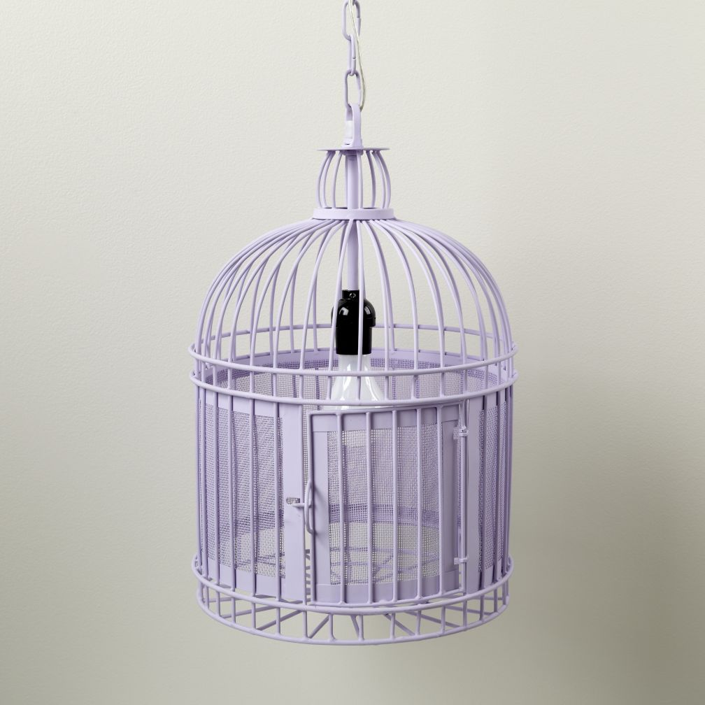 Like a Bird in a Cage Pendant Lamp (Purple)