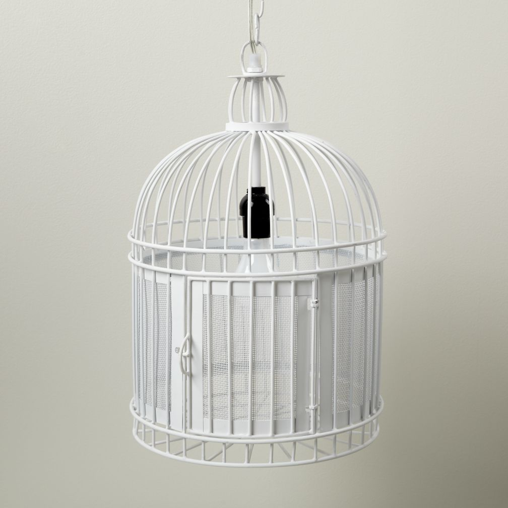 Like a Bird in a Cage Pendant Lamp (White)