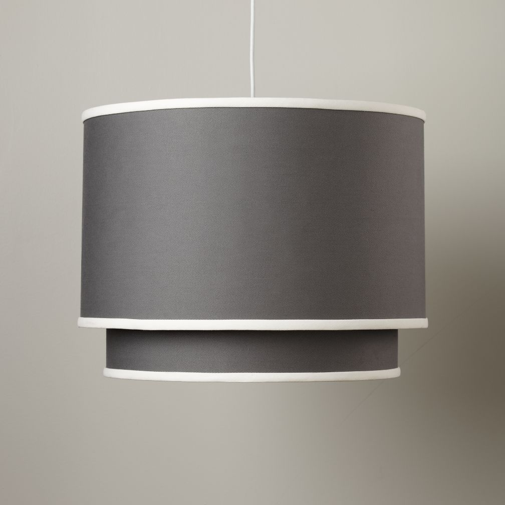 Double Pendant Ceiling Lamp (Grey)