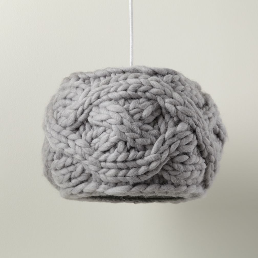 Cardigan Pendant Lampshade (Grey)