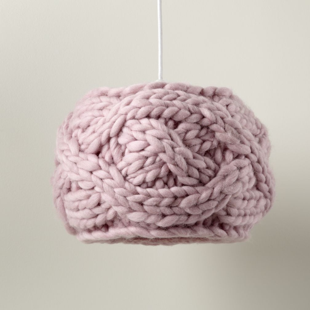 Cardigan Pendant Lampshade (Pink)