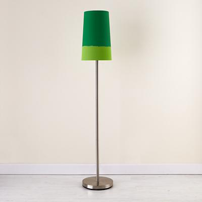 Green Lighten Up Floor Shade (with Nickel Base)