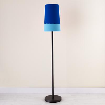 Blue Lighten Up Floor Shade (with Graphite Base)