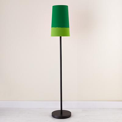 Green Lighten Up Floor Shade (with Graphite Base)