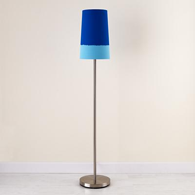 Blue Lighten Up Floor Shade (with Nickel Base)