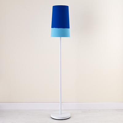 Blue Lighten Up Floor Shade (with White Base)