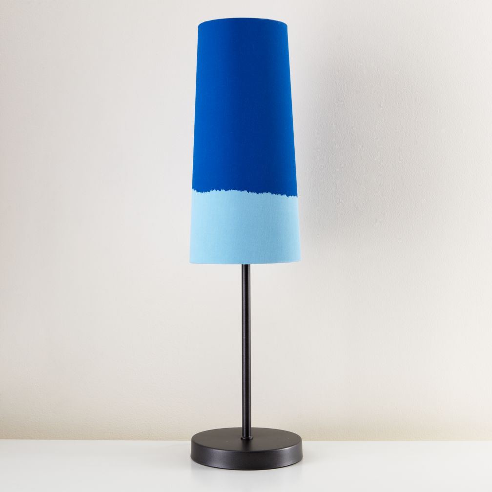 Lighten Up Blue Table Shade (Shown with Graphite Base)
