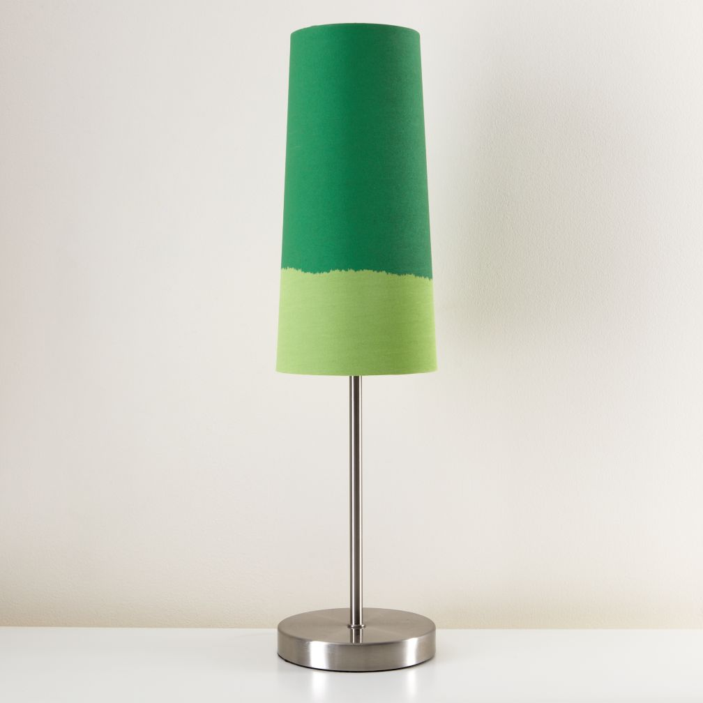 Lighten Up Green Table Shade (Shown with Nickel Base)