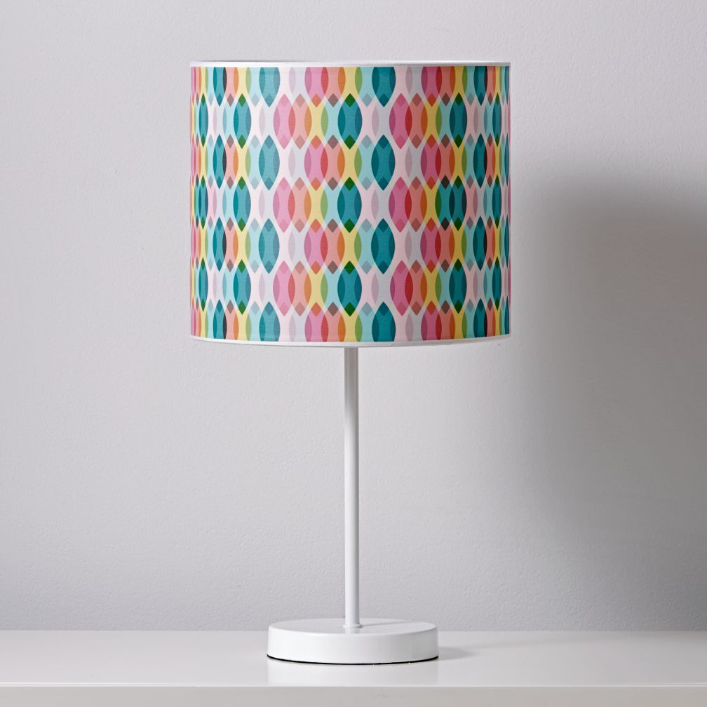 Printed Table Lamp Shade (Rainbow)