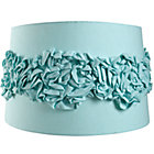 Aqua Ruffled Floor Shade