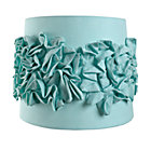 Aqua Ruffled Table Shade 