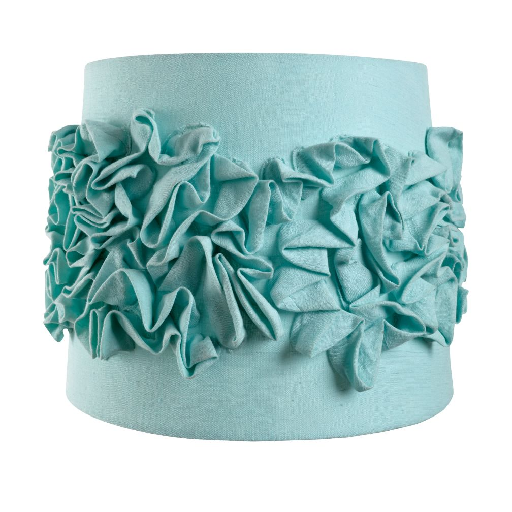 Ruffled Table Shade (Aqua)