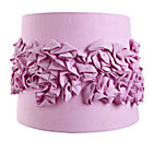 Purple Ruffled Table Shade 