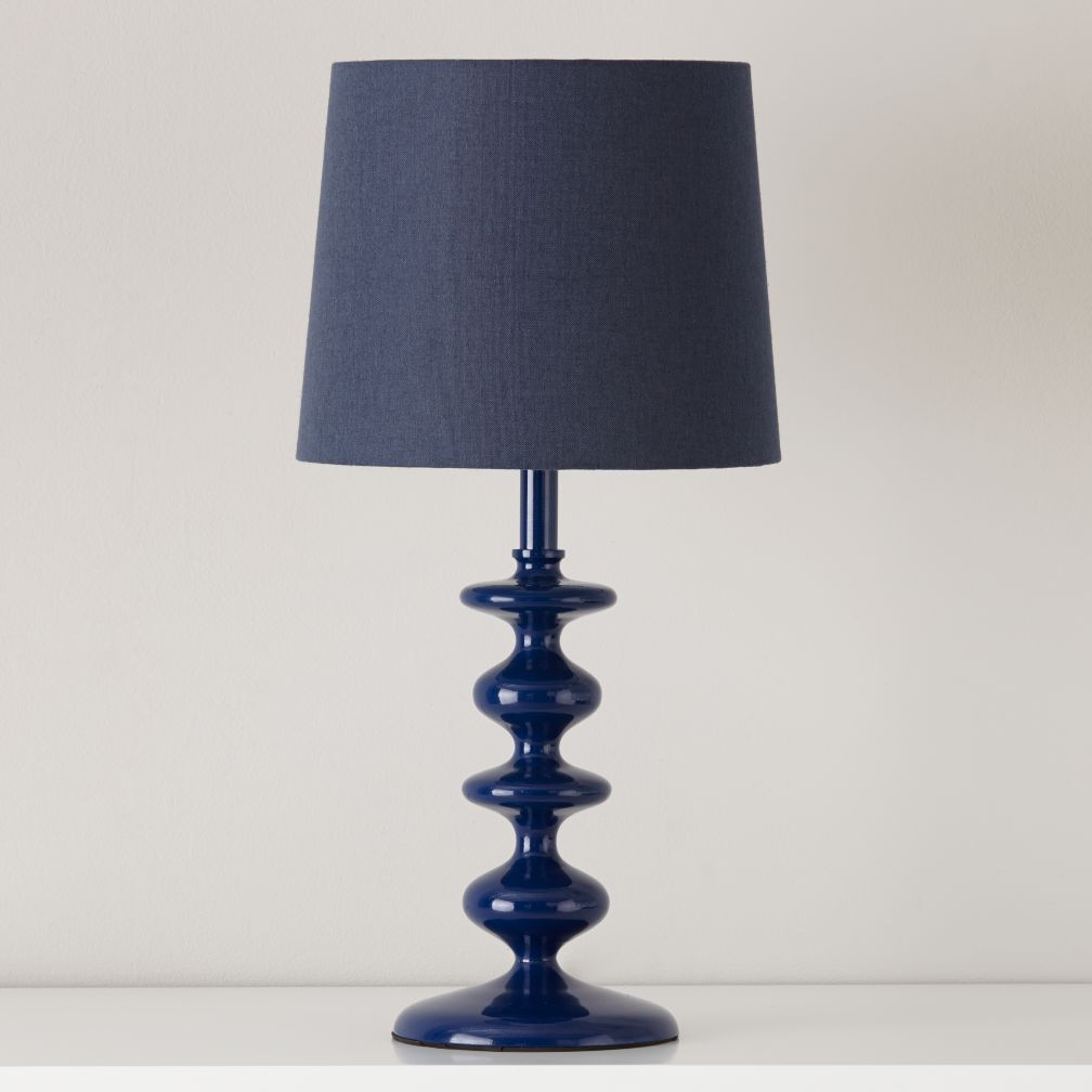 Checkmate Table Lamp Base (Dk. Blue)