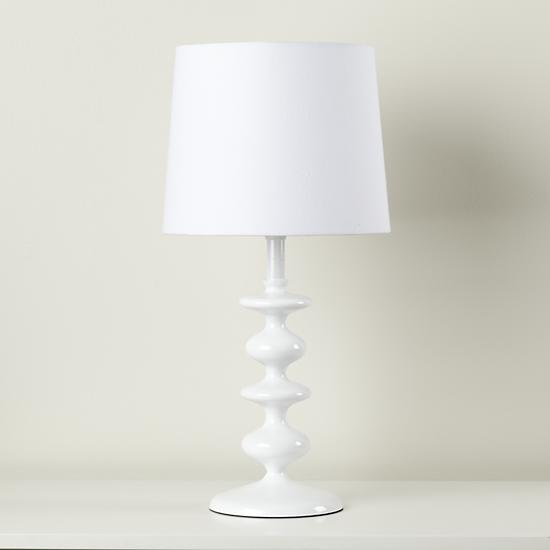 kids lighting kids white lamp the land of nod. Black Bedroom Furniture Sets. Home Design Ideas