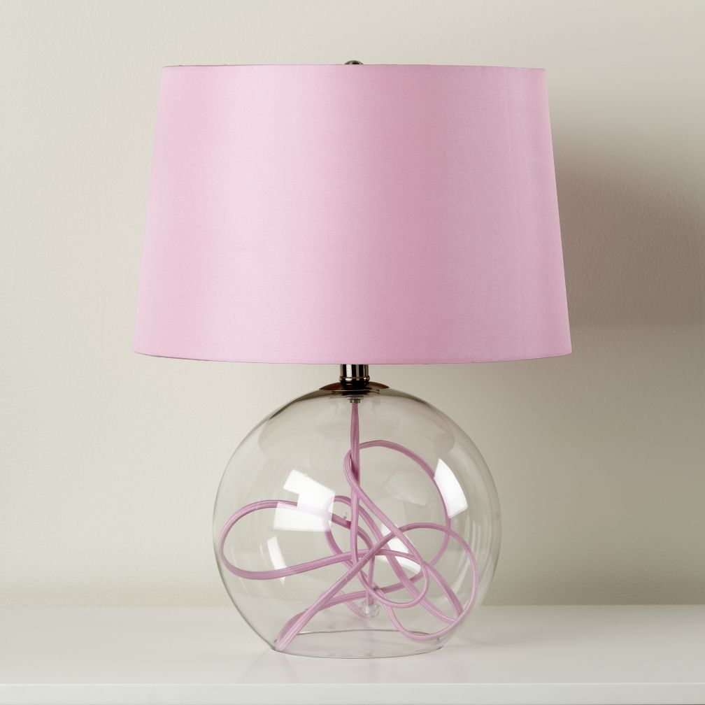 crystal ball table lamp pink reg more colors. Black Bedroom Furniture Sets. Home Design Ideas