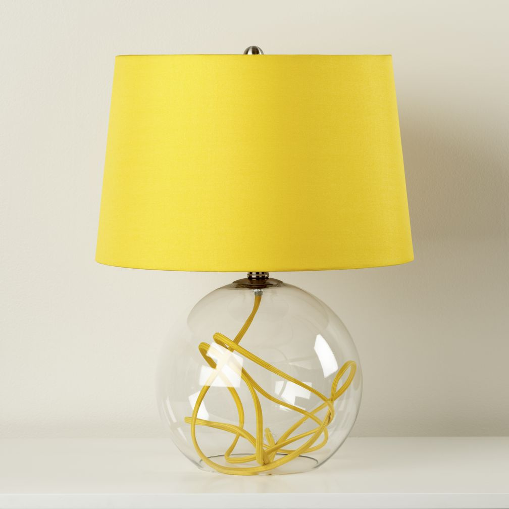 Crystal Ball Table Lamp (Yellow)