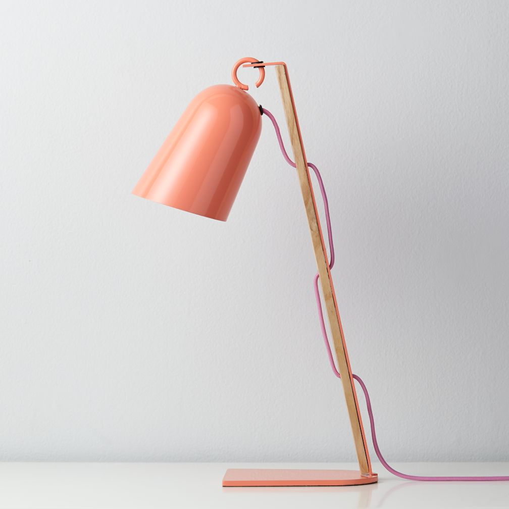 Mixed Media Table Lamp (Pink)