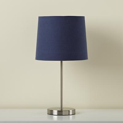 Light Years Dk. Blue Table Shade and Nickel Base